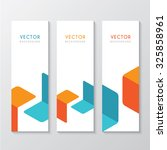 a set of banners with abstract... | Shutterstock .eps vector #325858961