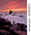 Small photo of force of nature, Adraga beach, Sintra, Portugal