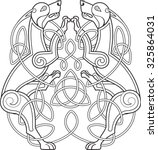 celtic dog with knots is on...   Shutterstock .eps vector #325864031