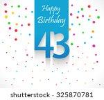 43 Years Happy Birthday...