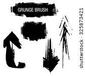 vector set of grunge brush...   Shutterstock .eps vector #325873421