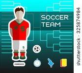 soccer team   morocco. football ... | Shutterstock .eps vector #325874984
