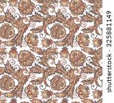 ethnic flowers seamless vector... | Shutterstock .eps vector #325881149