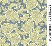 seamless paisley pattern in... | Shutterstock .eps vector #325881221