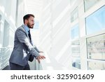 portrait of a young successful... | Shutterstock . vector #325901609