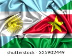 waving flag of suriname and... | Shutterstock . vector #325902449