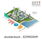 set of isometric city... | Shutterstock .eps vector #325903349