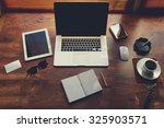 mock up of rich business person ... | Shutterstock . vector #325903571