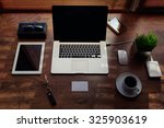 mock up of freelance desktop... | Shutterstock . vector #325903619