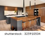 beautiful kitchen interior with ... | Shutterstock . vector #325910534