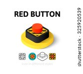 red button icon  vector symbol...