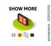 show more icon  vector symbol...