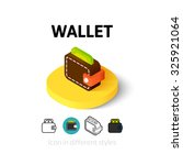 wallet icon  vector symbol in...