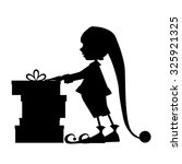 Elf Silhouette And Christmas...