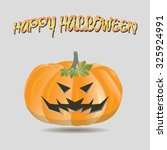 isolated jack o' lantern on a... | Shutterstock .eps vector #325924991