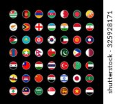 set of round icons asian flags... | Shutterstock .eps vector #325928171