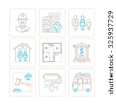 set of bitmap real estate icons ... | Shutterstock . vector #325937729