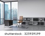 a ceo workplace in a modern... | Shutterstock . vector #325939199