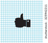 vector thumb up icon | Shutterstock .eps vector #325942211