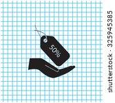 50  tag icon  vector... | Shutterstock .eps vector #325945385
