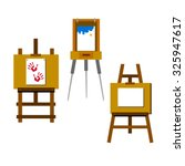 easel vector canvas artist art... | Shutterstock .eps vector #325947617