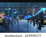 a conference room equipped by...   Shutterstock . vector #325949177
