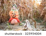 child celebrating halloween | Shutterstock . vector #325954004
