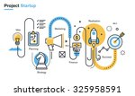 flat line illustration of... | Shutterstock .eps vector #325958591