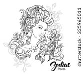 zodiac. vector illustration of... | Shutterstock .eps vector #325965011