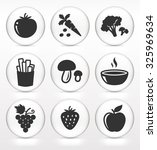 fruits and vegetables on white... | Shutterstock .eps vector #325969634