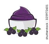 bowl acai | Shutterstock .eps vector #325972601