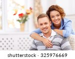forever together. cheerful... | Shutterstock . vector #325976669