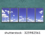 green wall and sky picture  ... | Shutterstock . vector #325982561