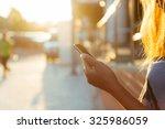 Closeup Women Using Smartphone...