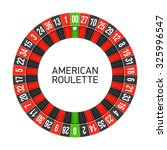 American Roulette Wheel. Vector.