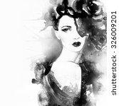 woman portrait .beautiful face. ... | Shutterstock . vector #326009201