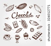 icon of chocolate set  cacao ... | Shutterstock .eps vector #326012771