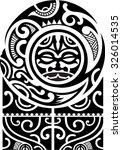 maori art pattern is isolated... | Shutterstock .eps vector #326014535