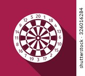 dart board flat icon with long... | Shutterstock .eps vector #326016284