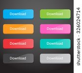 set of download buttons | Shutterstock .eps vector #326024714