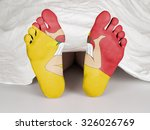dead body under a white sheet ...   Shutterstock . vector #326026769