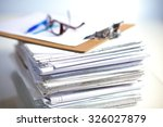file stack  file folder with... | Shutterstock . vector #326027879