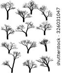 set of tree silhouettes ... | Shutterstock .eps vector #326031047