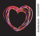 abstract heart shape for your... | Shutterstock .eps vector #326033309