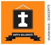cross on grave icon. black... | Shutterstock .eps vector #326033975