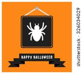 spider icon. black happy... | Shutterstock .eps vector #326034029