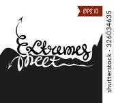 extremes meet. vector hand... | Shutterstock .eps vector #326034635