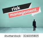 risk management investment... | Shutterstock . vector #326035805