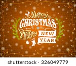 christmas greeting card with... | Shutterstock .eps vector #326049779