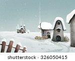 winter landscape. surreal... | Shutterstock . vector #326050415